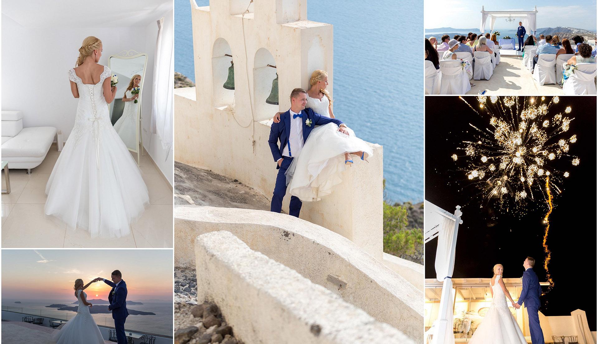 ceremony wedding santorini